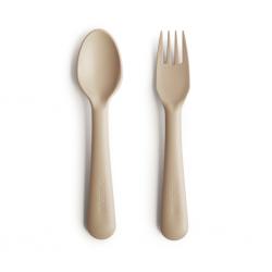 Fourchette et cuillère | Vanille par Mushie