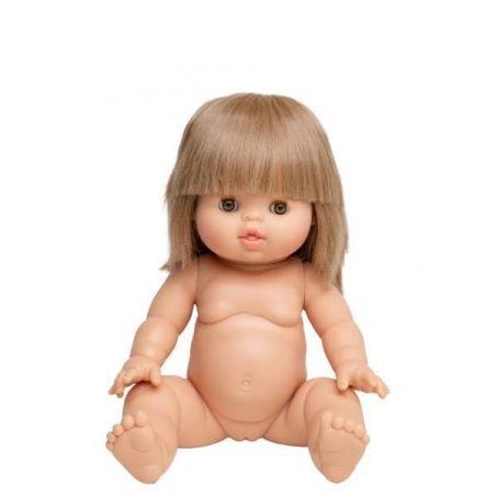 Poupée fille Blonde Zoé aux yeux dormeurs par Paola Reina