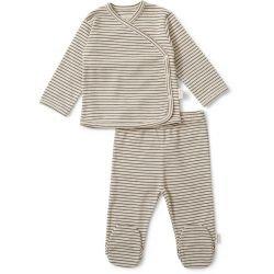 Pyjama rayé Marron et beige