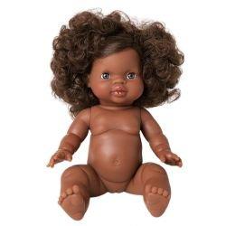 Charlie, Poupée fille Afrique avec cheveux