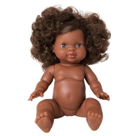 Charlie, Poupée fille Afrique avec cheveux par Paola Reina