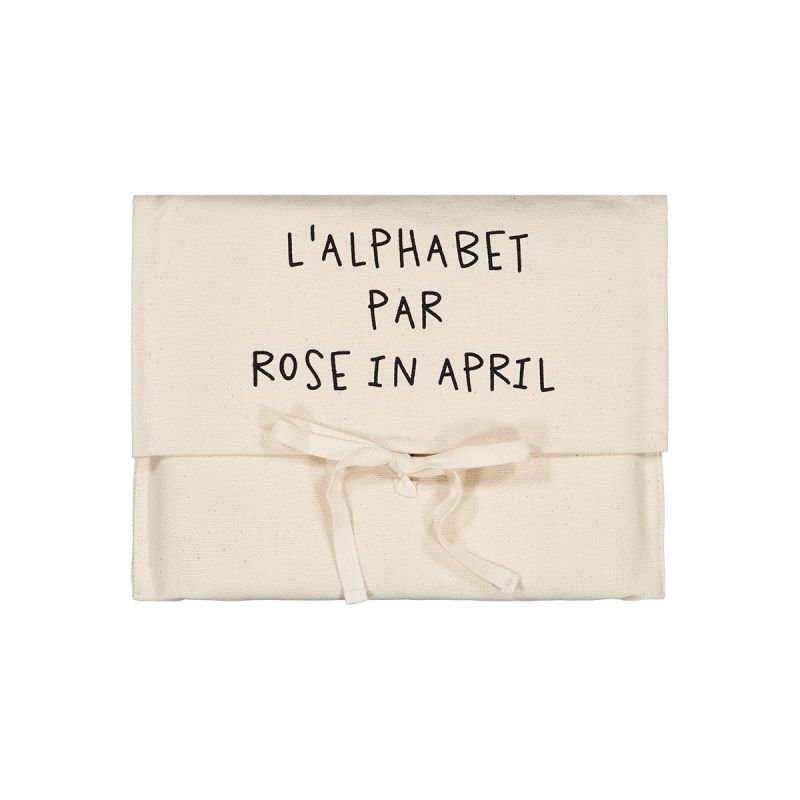 Toile abécédaire par Rose in April Pochette