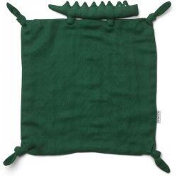 Doudou Lange en coton bio | Crocodile vert par Liewood