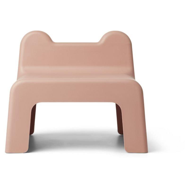 Petite chaise   Rose corail par Liewood vue de derrière