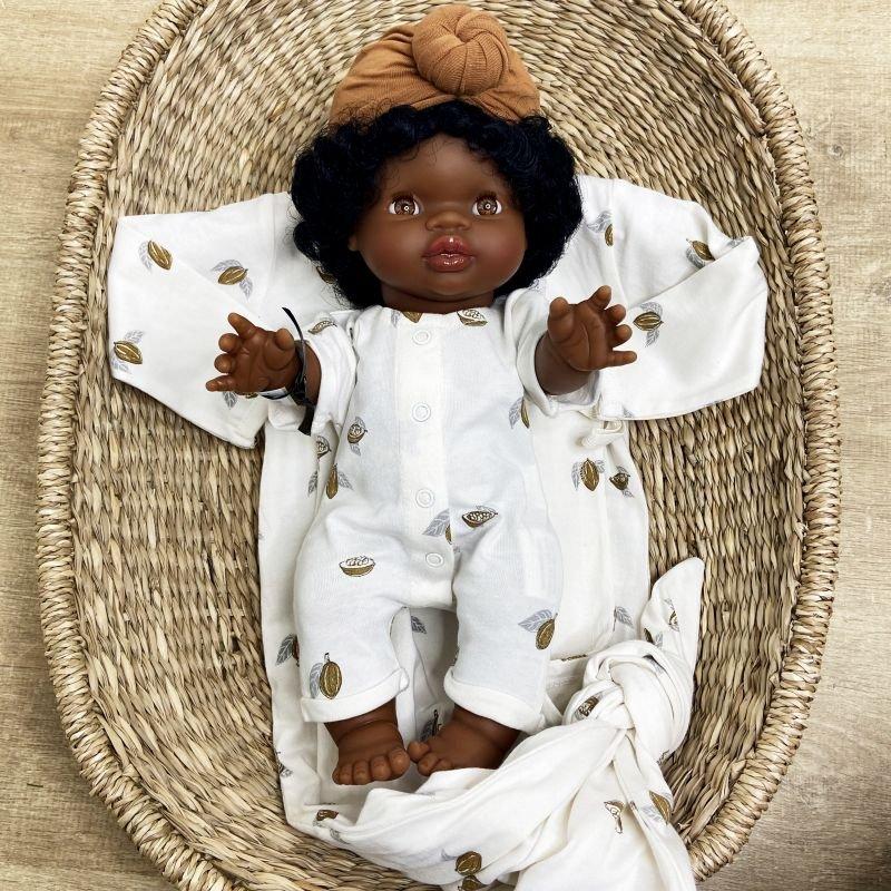 Jahia, Poupée fille Afrique avec cheveux