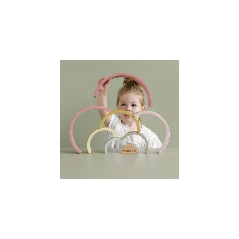 Arc en ciel | Rose nouveau coloris par Little Dutch avec un enfant