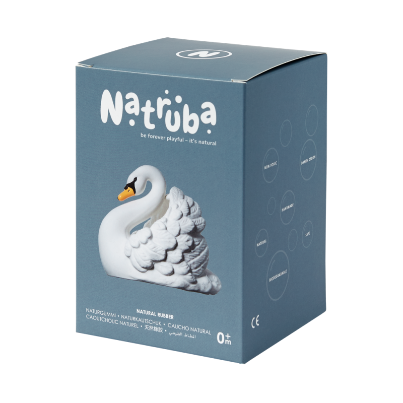 Jouet pour le bain | Cygne par Natruba dans sa boite