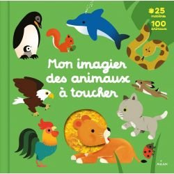 Mon imagier des animaux à toucher par Milan couverture