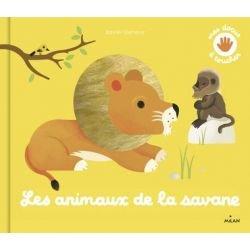 Mes docus à toucher | Les animaux de la savane par Milan couverture
