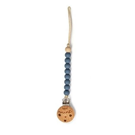 Attache tétine perles | Bleu par That's mine