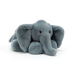 Grand doudou Eléphant | Bleu par Jellycat
