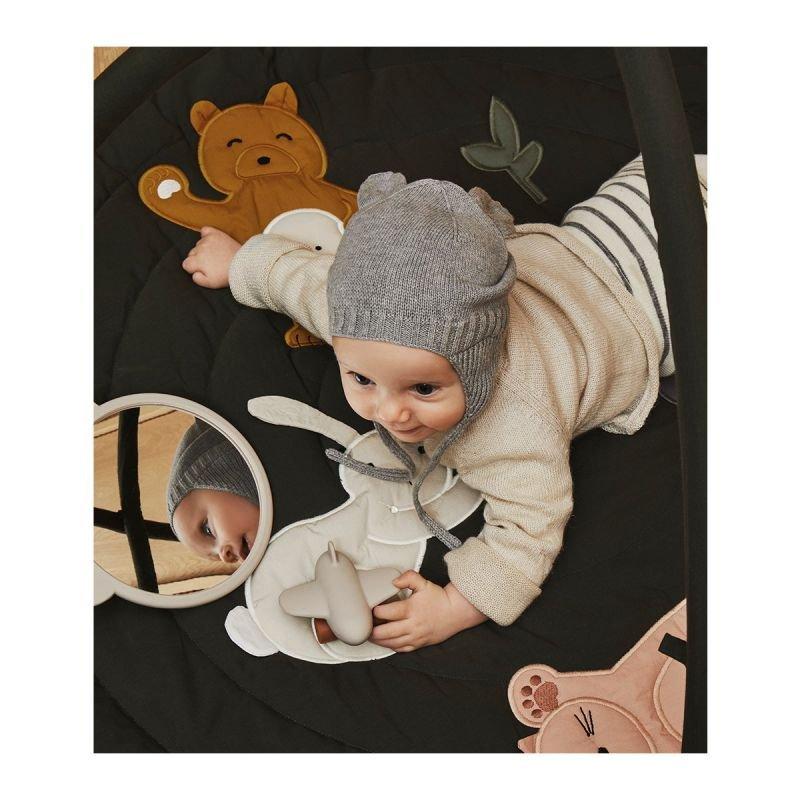 Miroir Heidi Ours | Blanc gris