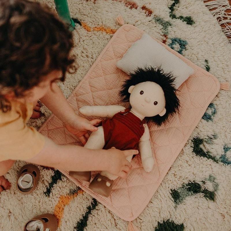 Parure de lit pour poupée   Rose