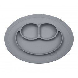 Assiette ventouse Gris anthracite à compartiments par EZPZ
