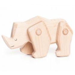 Rhinocéros en bois articulé