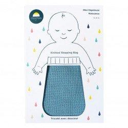 Gigoteuse naissance coton bleu 100% coton certifiée Oeko Tex 100 dans son packaging