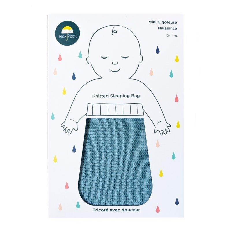 Gigoteuse naissance coton bleu 100% coton certifiée Oeko Tex 100