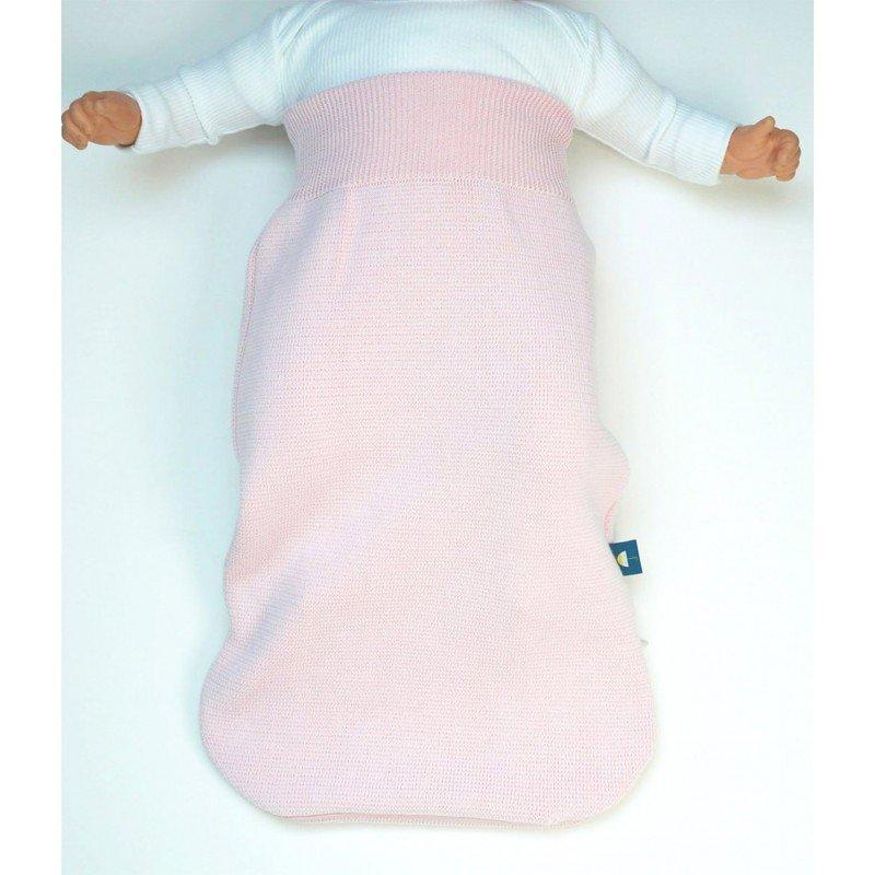 Gigoteuse naissance coton rose tricoté avec du coton certifiée Oeko Tex 100