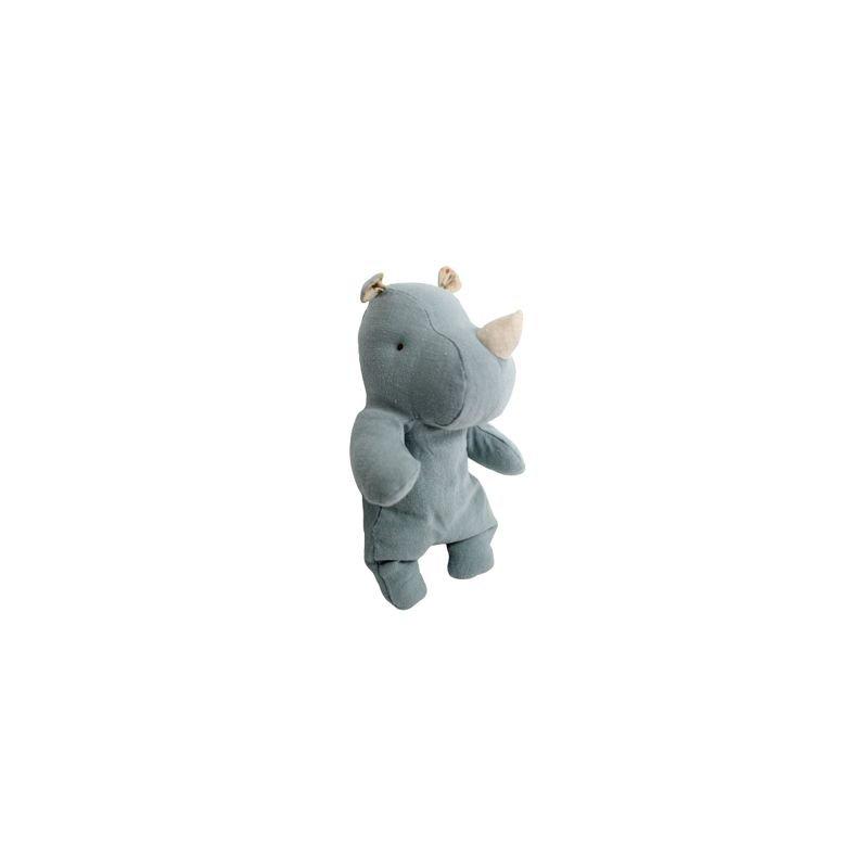 Doudou rhinocéros Bleu/Gris