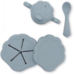 Set de repas coquillage | Bleu
