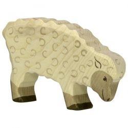 Mouton mangeant en bois