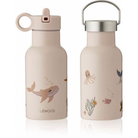 Gourde Anker inox 350 ml   Créatures de la mer rose par Liewood