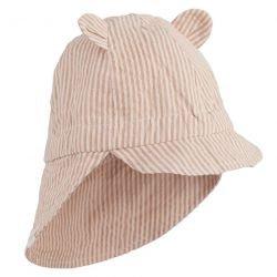 Chapeau de soleil avec oreilles de couleur Rose rayé par Liewood