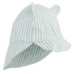 Chapeau de soleil avec oreilles de couleur Bleu rayé par Liewood