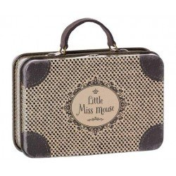 Petite valise métallique grise par Maileg