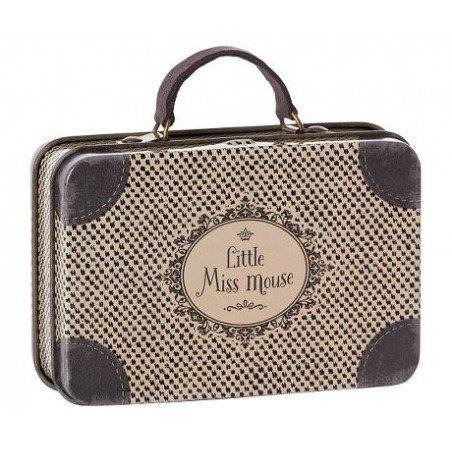 Petite valise métallique grise