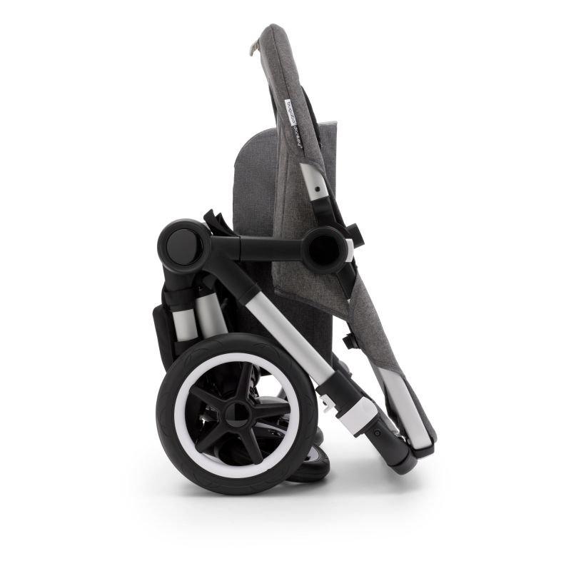 Poussette naissance et 2e âge Donkey 3 Mono | Gris chiné & Aluminium