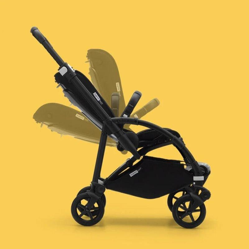 Poussette naissance et 2e âge Bee 6   Gris chiné & Aluminium