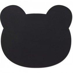 Set de table en silicone noir par Liewood