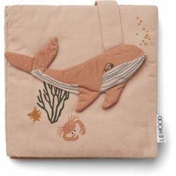 Couverture du livre d'éveil en tissu Créatures de la mer rose Liewood