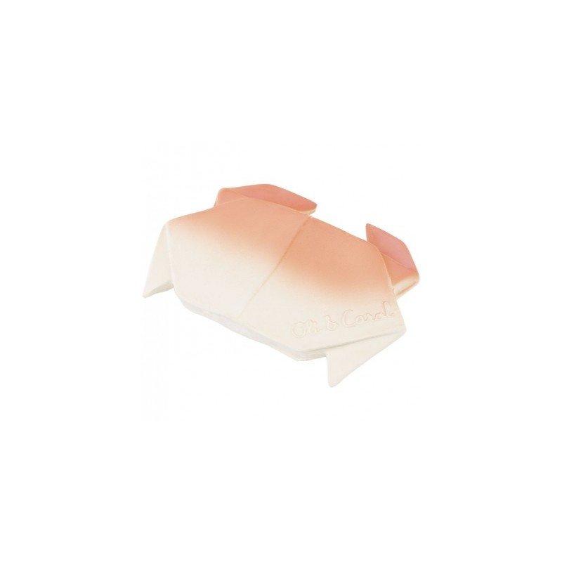Crabe origami à mâchouiller par Oli and Carol dans son packaging