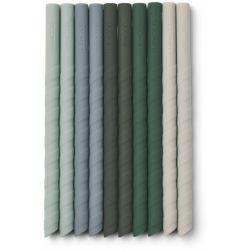 8 pailles en silicone   Multi couleurs Vert