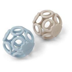2 balles en silicone | Bleu...