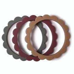 3 bracelets fleur | Framboise/Thym/Naturel