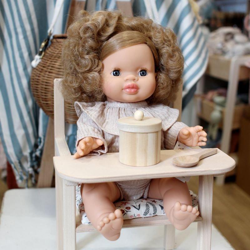 Set repas en bois pour poupée