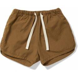 Short en coton   Marron