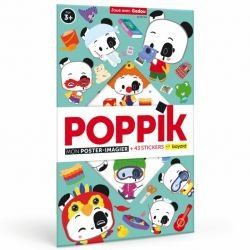 Poster Stickers Joue avec Gadou par Poppik