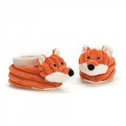 Chaussons doudou renard par Jellycat