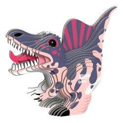 Puzzle 3D en carton | Spinosaure