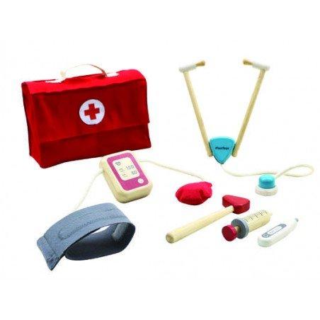 Ma valise de docteur en bois par Plan toys