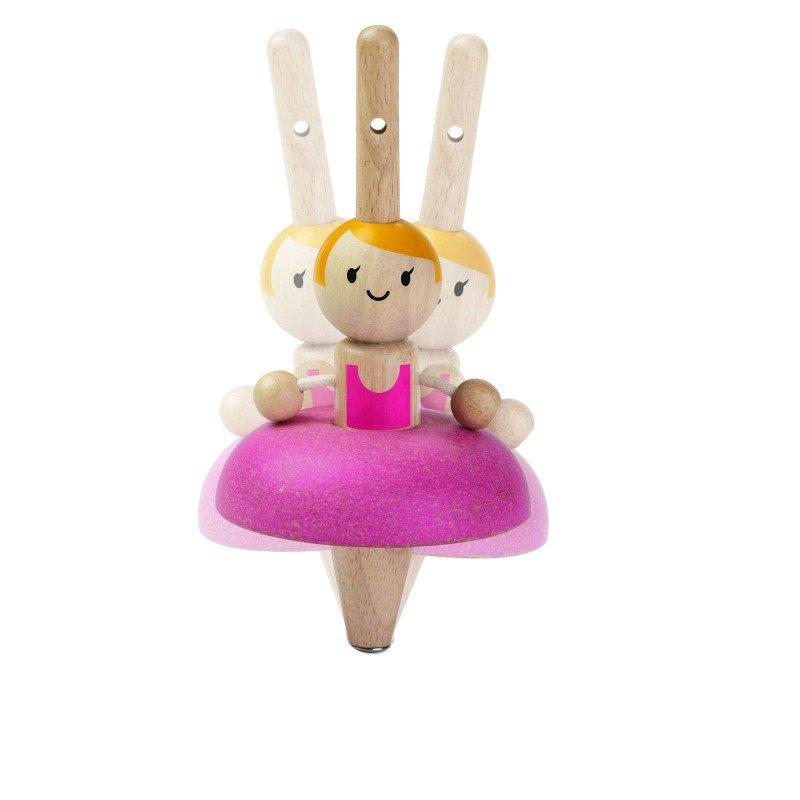 Toupie ballerine danseuse par Plan toys qui tourne sur elle même