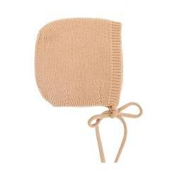 Bonnet Dolly en laine Abricot par Hvid