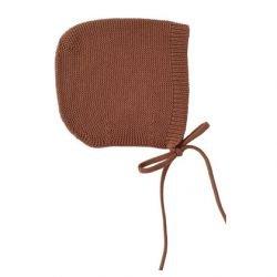 Bonnet Dolly en laine Brique par Hvid