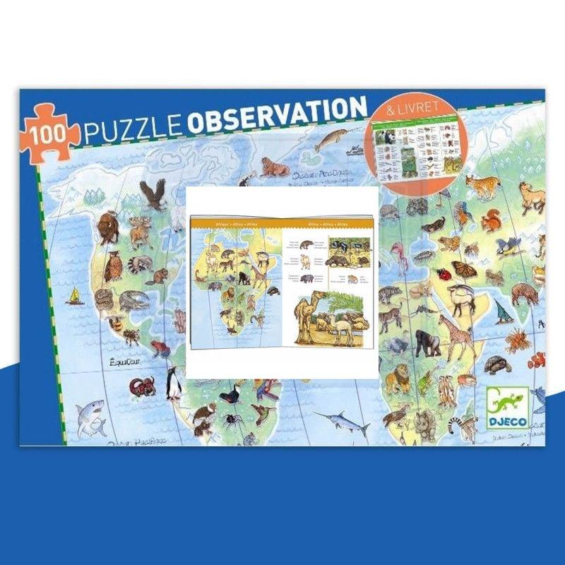 Puzzle d'observation Animaux - 100 pièces