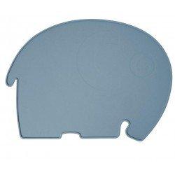 Set de table éléphant bleu gris par Sebra