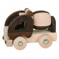 Camion toupie bois naturel par Goki